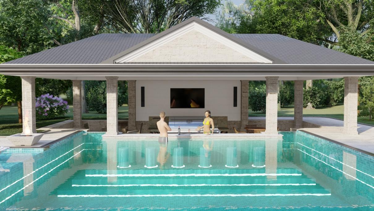 Pool & Bar view