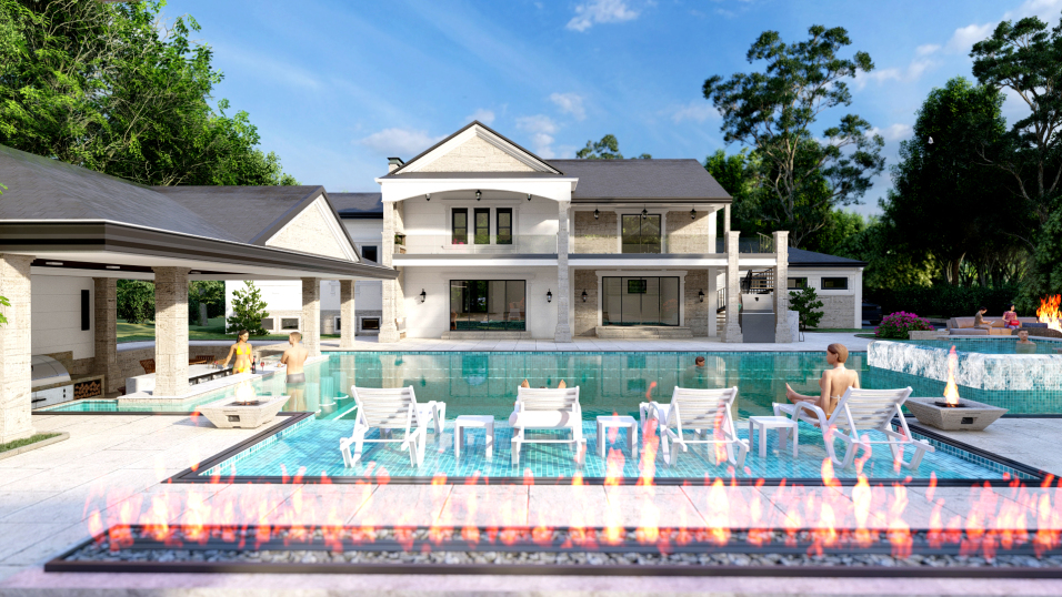 Residential Elevations & Backyard Design